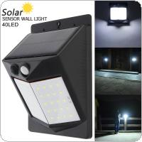 40 LED 400LM Light Controlled Human Body Sensing Wall Light LED Solar Motion Sensor Light Induction Lamp for Outdoor / Courtyard / Illuminating