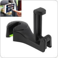 2 In 1 Universal  Multi-function Foldable Car Phone Stand Mount  Luggage Carrier Chair Back Hook