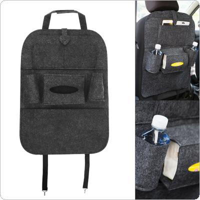 Universal Multifunctional Felt Car Storage Hanging Box Back Seat Bag  with Stickup-style Fixed Belt