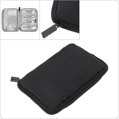 Portable Travel Digital Multi function Data Anti fall Single Layer Storage Bag Electronics Travel Organizer/ Cable bag