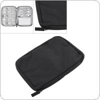 Multifunctional Small Black Digital Cable Storage Bag Cable Organizer Earphone Wire Bag Pen Power Bank Travel Kit Case Pouch for Storage