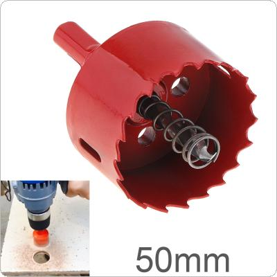 50mm M42 Bi-Metal Hole Saw Drilling Hole Cut Tool with Sawtooth and Spring for PVC Plate / Woodworking