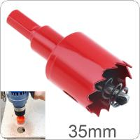 35mm M42 Bi-Metal Hole Saw Drilling Hole Cut Tool with Sawtooth and Spring for PVC Plate / Woodworking