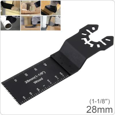 28mm Black Reciprocating Tungsten Steel Saw Blade Power Tool Accessories with Sharp Tooth for Wood Cutting / Sheet Grinding / PVC Cutting / Nail Cutting