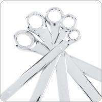 6pcs 8mm-17mm Combination Spanner Set Dual Use Mirror Wrench for Home Installation / Maintenance