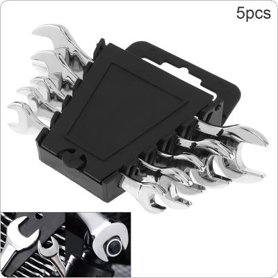 5pcs / set Adjustable Reversible Combination Ratchet Wrench 8mm-19mm CRV Handle Wrench Socket Spanner Set for Installation and Maintenance