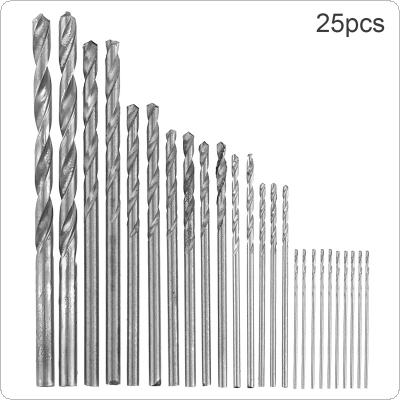 25 pcs / set  High Speed Metric HSS Twist Drill Bits Coated Set 0.5MM - 3.0MM Stainless Steel Small Cutting Resistance for Hole Punch