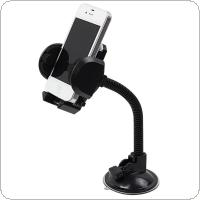 Dual Purpose 360 ° Retractable Adjustment  Car Navigation Phone Bracket  Holder  with Suction Cups and Air Outlet Clip