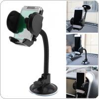 Dual Purpose 360  Retractable Adjustment  Car Navigation Phone Bracket  Holder  with Suction Cups and Air Outlet Clip