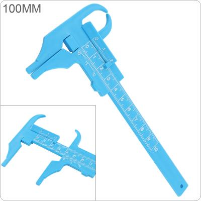 0-100mm Double Scale Blue Plastic Vernier Caliper Support Depth Measurement and Simple Reading Scale for Student Learning / Antique Measurement