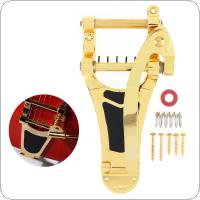 Gold Plated Electric Guitar Vibrato Tremolo Bridge Big Crank Tailpiece System Parts