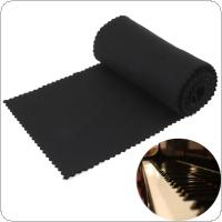 119 x 14cm Black Soft Piano Key Cover Keyboard Dust Cover