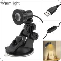 3W USB Warm Light Power Table Lamp Flexible Eye Protection Desk Suction Cup Lamp Bedroom Living Room Decoration Lamp for Study / Reading / Work
