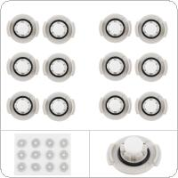 12pcs/set Replacement Water Tank Filter Vacuum Cleaner Parts Accessory with Silica Gel Sealing Ring fit for XIAOMI MI Roborock Sweeping Robot