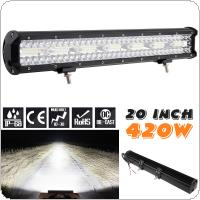 3 Rows 20 Inch 540W 140Pcs LED Strip LED Light Bar Work Light Combo Beam for Driving Offroad Boat Car Tractor Truck 4x4 SUV