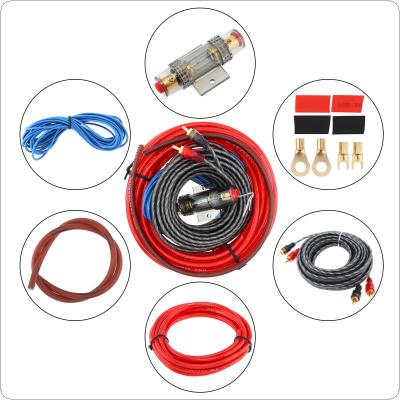 1 Set of Car Audio Wire Wiring Kit Car Speaker Woofer Cables Car Power Amplifier Audio Line Power Line with Fuse Suit for Car Codification