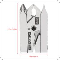 Universal Multifunctional Mini 420 Stainless Steel Foldable Plier Clamp with Straight Screwdriver and Cross Screwdriver for Keychain Tool