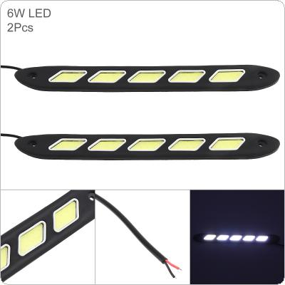 2pcs/pair 12V 5 Lights LED Daytime Running Light White Light Waterproof Auto Car DRL COB Driving Fog Lamp for Motor / ATV / SUV