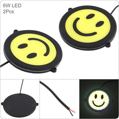 2pcs/pair LED Daytime Running Light Emotional Expression Lamp Smile Waterproof Auto Car DRL COB Driving Fog Lamp for Motor / ATV / SUV