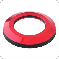 CNC Bicycle Headset Cap Aluminum Alloy  Flat Spacer MTB 28.6mm Bike Parts Cover with Rubber Ring