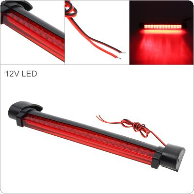 24 LEDs 12V Red Car Brake Light Rear Windshield Rear Tail Light High Mount Fog Stop Warning Lamp 3RD Brake Light for Warning