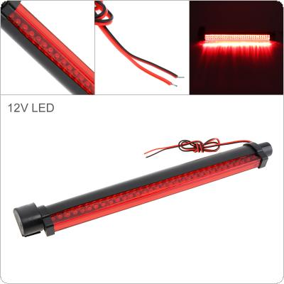 32 LEDs 12V Red Car Brake Light Rear Windshield Rear Tail Light High Mount Fog Stop Warning Lamp 3RD Brake Light for Warning
