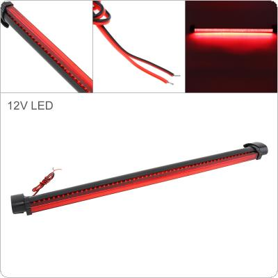 56 LEDs 12V Red Car Brake Light Rear Windshield Rear Tail Light High Mount Fog Stop Warning Lamp 3RD Brake Light for Warning