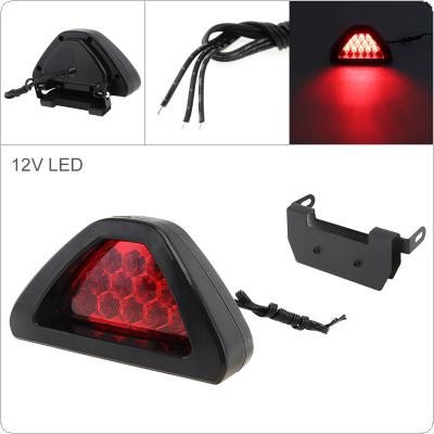 12V Red Car Brake Light Triangle Rear Windshield Rear Tail Light High Mount Fog Stop Warning Lamp 3RD Brake Light for Warning