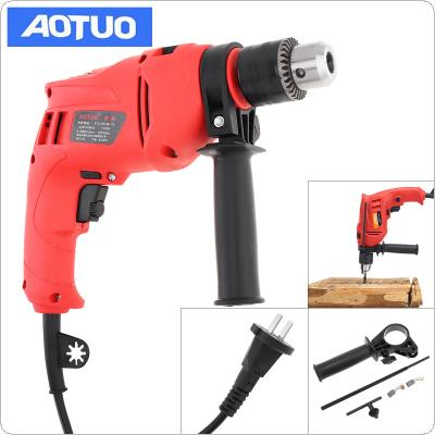 220V 710W High Power Handheld Impact Electric Drill with Depth Ruler and 13mm Drill Chuck for Handling Screws / Punching / Polishing / Cutting