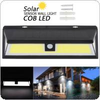 180 COB 1000LM Switch Three sided Lighting ABS PIR Motion Sensor Solar Lamp 3 Modes Waterproof Solar Sensor Wall Light for Parks / Security Emergency Street