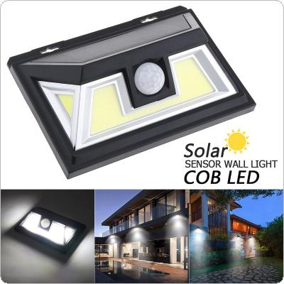 76 Core COB White Light PIR Human Body Sensing Wall Light Waterproof Solar Sensor Corridor Light for Garden / Outdoor / Courtyard Lighting