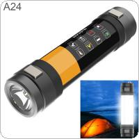 A24 5V 8800mAh Long Multifunctional Mosquito Repellent Flashlight Waterproof Rechargeable Emergency Rescue Warning Light for Outdoor / Home / Camping