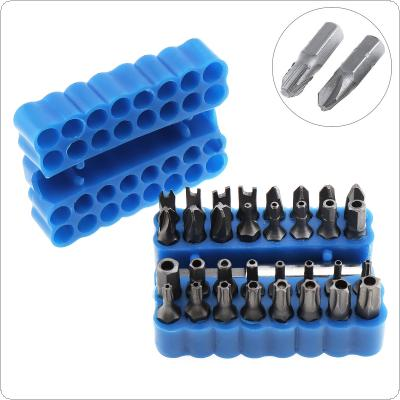 33 in 1 Blue Hollow Screwdriver Kit with Hexagonal and Torx Special Batch Charging Drill Shaped Screwdriver Tool for Screw