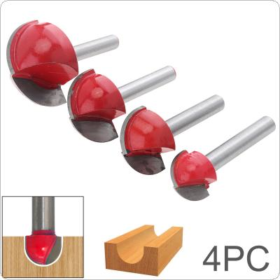 4 pcs 6-handle Round Bottom Engraving Machine Ball Cutter Round Head Carbide Tool for Industrial Cutting