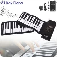 Portable 61 Keys Roll Up Flexible Silicone Piano Electronic MIDI Keyboard Organ