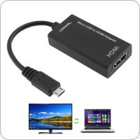 Black HD Portable USB to HDMI Adapter Support MHL Devices to HD Television for Cellphone