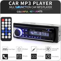 Universal JSD-520 In Dash 12V Bluetooth Multifunctional Car Stereo Radio FM Aux Input MP3 Audio Player with USB /  SD / ISO Port