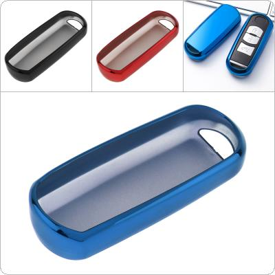 3 Colors TPU Straight Plate  Car Key Case Protector Holder for Mazda 2 3 5 6 CX-3 CX-4 CX-5 CX-7 CX-9 Atenza Axela MX5