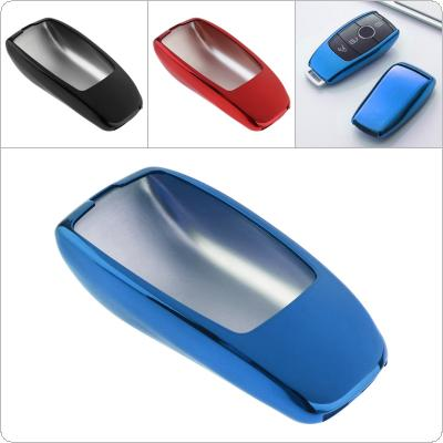 3 Colors TPU Straight Plate  Car Key Case Protector Holder for Mercedes Benz 2017 E-class S-class  W213 2018