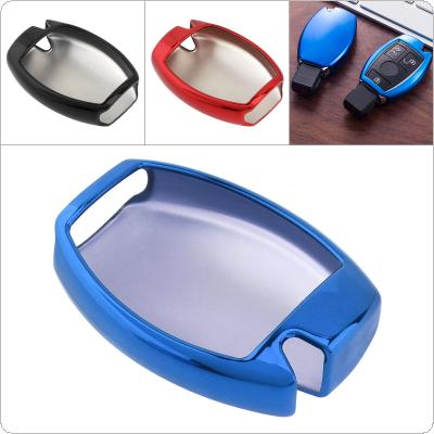 3 Colors TPU Straight Plate  Car Key Case Protector Holder for Mercedes  Benz A B R G Class GLK GLA W204 W251 W463 W176