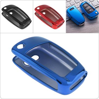 2 Colors TPU Folding Car Key Case Protector Holder for Audi A1 / A2 / A3 / Q2 / Q3 / S3