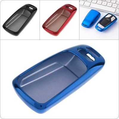 3 Colors TPU Straight Plate Car Key Case Protector Holder for AUDI / A4 / B9 / Q5 / Q7 / TT / TTS / 8S / 2016 / 2017