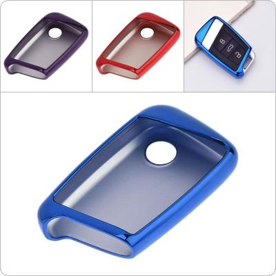 2 Colors TPU Straight Plate  Car Key Case Protector Holder for Skoda Superb A7 / Volkwagen Passat B8 Golf Gte