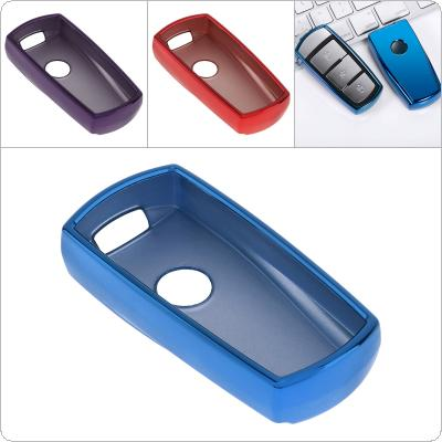 2 Colors TPU Straight Plate Car Key Case Protector Holder for Volkswagen CC Magotan Passat B6 B7
