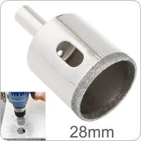 28mm Diamond Coated Core Hole Saw Drill Bit Kit Tools Glass Drill Hole Opener for Tiles Glass Ceramic