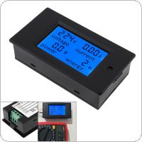AC Single Phase Digital LCD Ammeter Voltmeter 80-260V 20A 4 IN 1 Electric Volt Amp Meter Power Kwh For Home kit