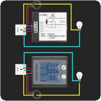 Single Phase Digital Panel Voltmeter Ammeter 220V 100A Voltage Current Energy Electricity Kwh Meter PZEM-0 11 with CT Coil