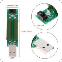 Green Portable Mini USB Discharge Interface Load Resistor with 2A / 1A Switch