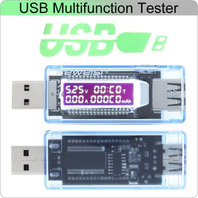 Portable Mini USB Voltage Current Capacity Detector with LCD Screen and USB Plug Output Interface