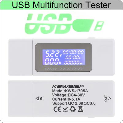 DC4-30V 0-5A 0-99 Hours 0-150W Electrical Power USB Capacity Voltage Tester Current Meter Monitor Voltmeter Ammeter